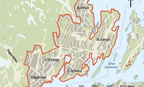 Björkvik, Älvsala, Fagerdala och Bullandö